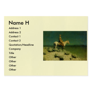 Frederic Remington's The Night Herder (circa 1908) Business Card