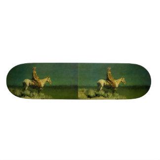 Frederic Remington's The Night Herder (circa 1908) Custom Skate Board