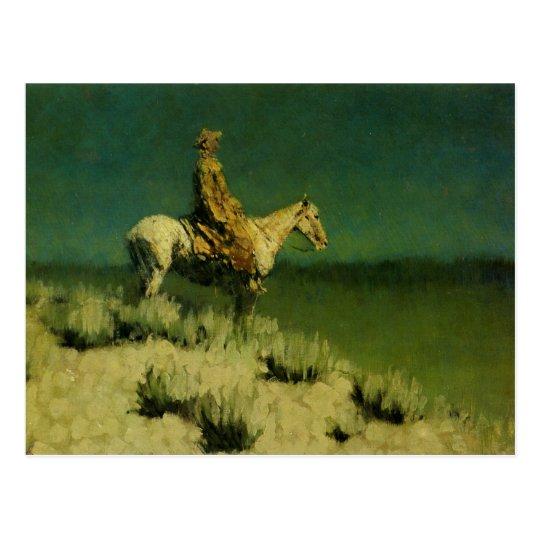 Frederic Remington's The Night Herder (circa 1908) Postcard