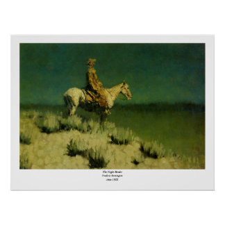 Frederic Remington's The Night Herder (circa 1908) Poster