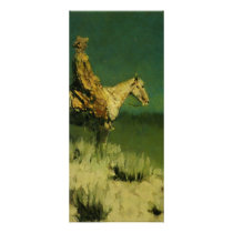 Frederic Remington's The Night Herder (circa 1908) Rack Card