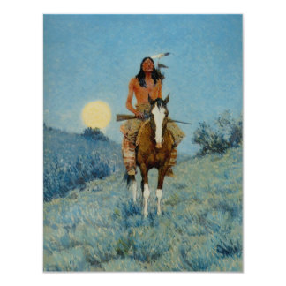 Frederic Remington's The Outlier 1909 4.25x5.5 Paper Invitation Card