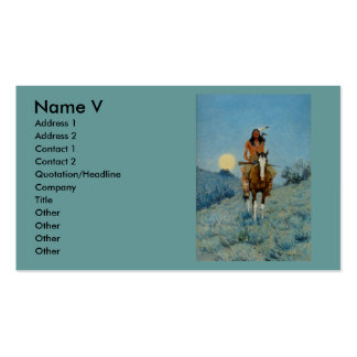 Frederic Remington's The Outlier 1909 Business Card