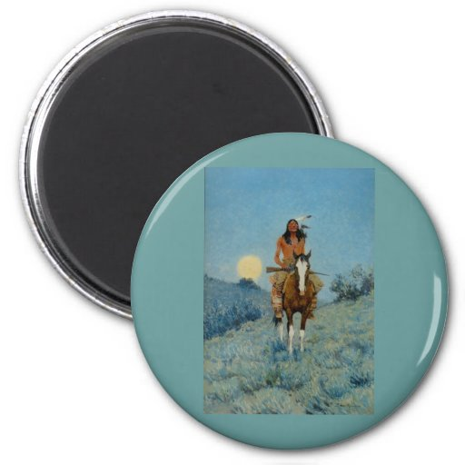 Frederic Remington's The Outlier 1909 Fridge Magnets