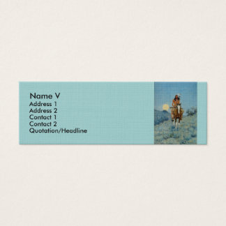 Frederic Remington's The Outlier 1909 Mini Business Card