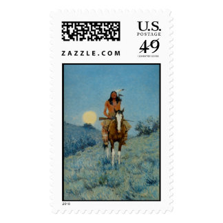 Frederic Remington's The Outlier 1909 Stamps