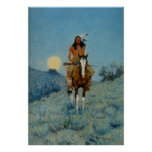 Frederic Remington's The Outlier 1909 Poster