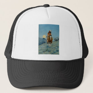 Frederic Remington's The Outlier 1909 Trucker Hat