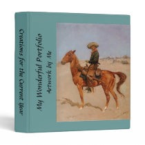 Frederic Remington's The Puncher (1895) 3 Ring Binder