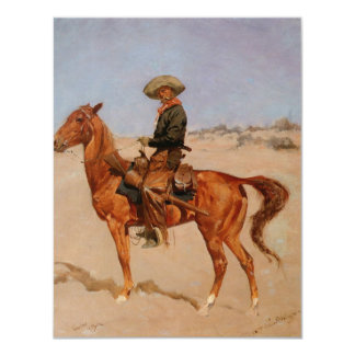 Frederic Remington's The Puncher (1895) 4.25x5.5 Paper Invitation Card