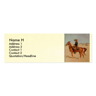Frederic Remington's The Puncher (1895) Double-Sided Mini Business Cards (Pack Of 20)