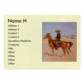 Frederic Remington's The Puncher (1895) Large Business Cards (Pack Of 100)