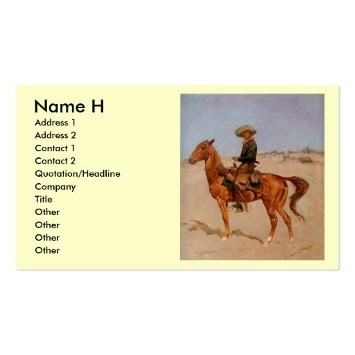 Frederic Remington's The Puncher (1895) Business Card