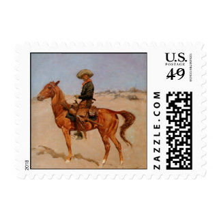 Frederic Remington's The Puncher (1895) Stamp