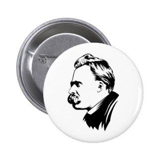 Frederich Nietzsche Portrait Button