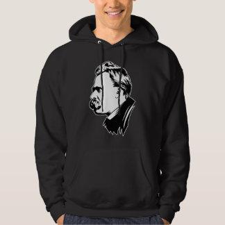 Frederich Nietzsche Portrait Mousepad Hooded Sweatshirt
