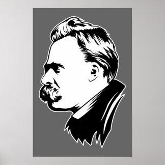 Frederich Nietzsche Portrait Mousepad Poster