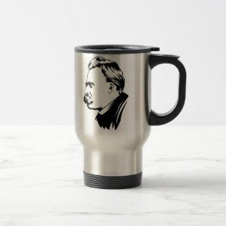 Frederich Nietzsche Portrait 15 Oz Stainless Steel Travel Mug