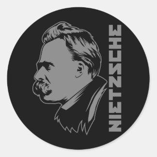 Frederich Nietzsche Portrait Sticker