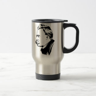 Frederich Nietzsche Portrait Travel Mug