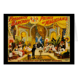 Frederick Bancroft prince of magicians Card