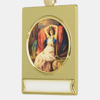 Frederick Bancroft, Prince of Magicians Gold Plated Banner Ornament