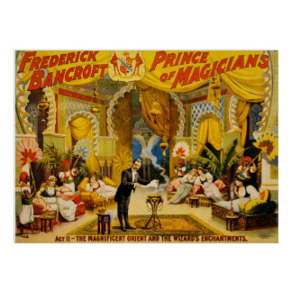 Frederick Bancroft prince of magicians Poster