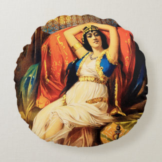 Frederick Bancroft, Prince of Magicians Round Pillow