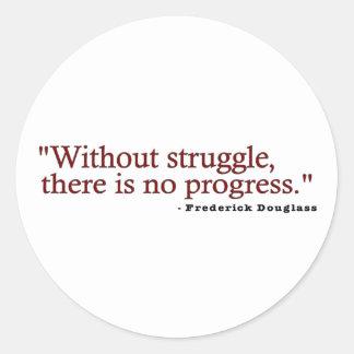 Frederick Douglas Quote Classic Round Sticker