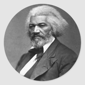 Frederick Douglass African American Civil Rights Classic Round Sticker
