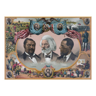 Frederick Douglass & Black Civil Rights Heroes Poster
