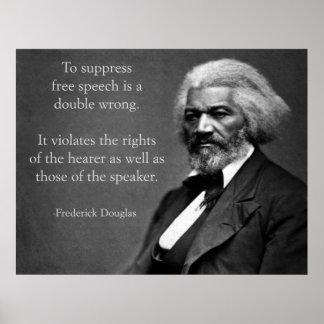 Frederick Douglass Free Speech Poster
