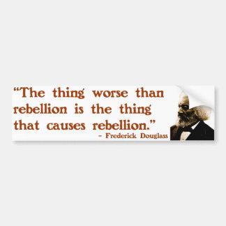 Frederick Douglass on Rebellion Bumper Sticker