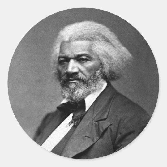 Frederick Douglass Portrait by George K. Warren Classic Round Sticker