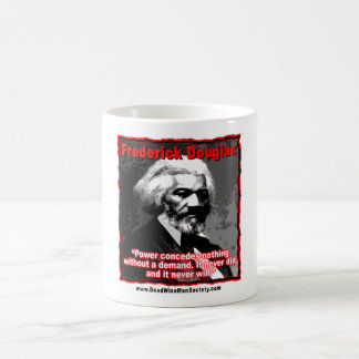Frederick Douglass Power Concedes Quote Classic White Coffee Mug