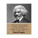 Frederick Douglass - Quote about Work + Perfection Canvas Print