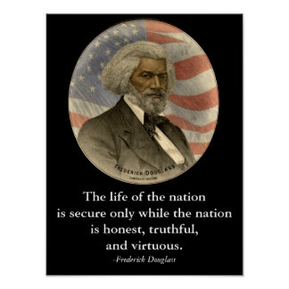 Frederick Douglass Quote Black History Classroom Poster