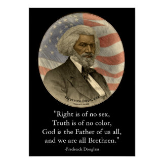 Frederick Douglass Quote Right Truth Black History Poster