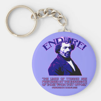 Frederick Douglass Quote: The Limits of Tyrants Keychain