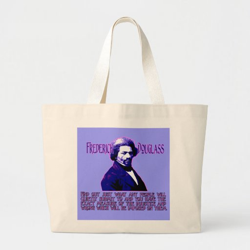 Frederick Douglass Quote: The Measure of Injustice Jumbo Tote Bag