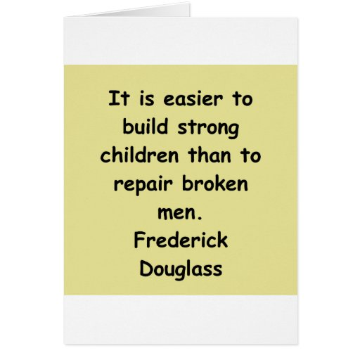 frederick douglass quotes greeting card