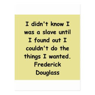 frederick douglass quotes postcard