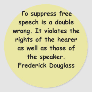 frederick douglass quotes classic round sticker