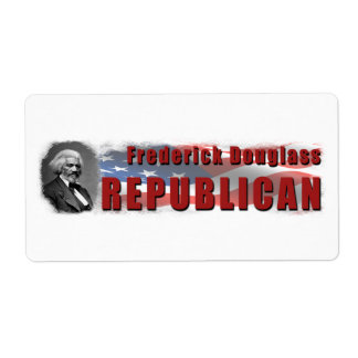 Frederick Douglass Republican Shipping Label