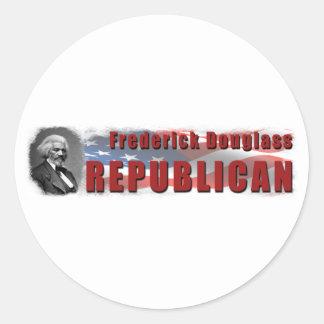 Frederick Douglass Republican Classic Round Sticker