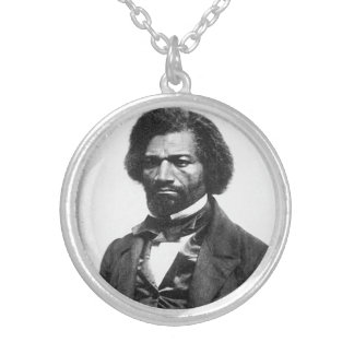 Frederick Douglass Silver Plated Necklace