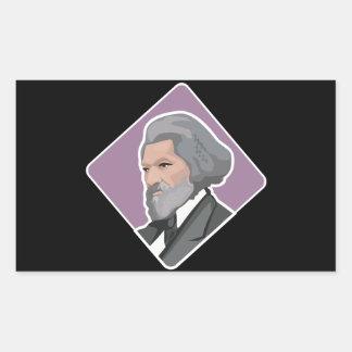Frederick Douglass Rectangular Sticker