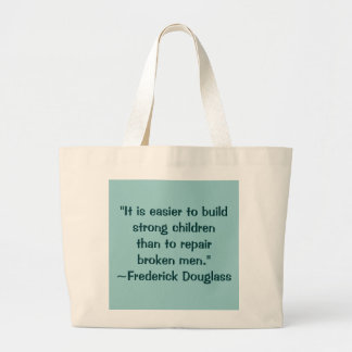 Frederick Douglass Strong Children Quote Jumbo Tote Bag