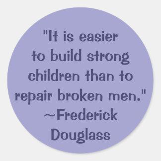 Frederick Douglass Strong Children Quote Classic Round Sticker