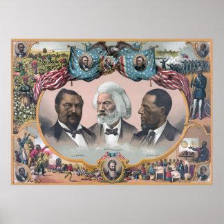 Frederick Douglass y héroes negros de las derechas Póster
